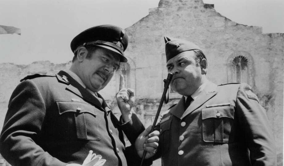 Peter Ustinov and Jonathan Winters have a heated conversation in a scene from the film 'Viva Max', 1969. Photo: Michael Ochs Archives, Getty Images / 2011 Getty Images