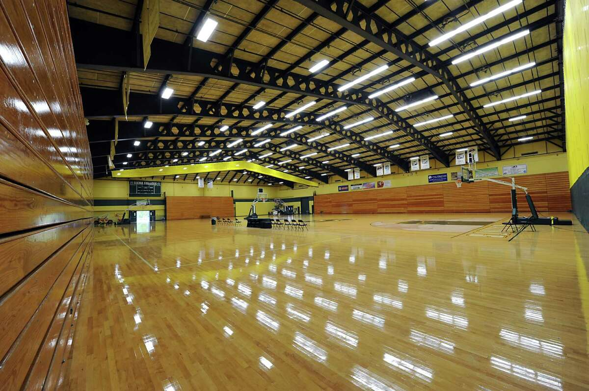 Interior of the Athletic Recreation Center at Siena on Tuesday, Sept. 30, 2014 in Loudonville, N.Y. The college is talking about renovating the gym. (Lori Van Buren / Times Union)