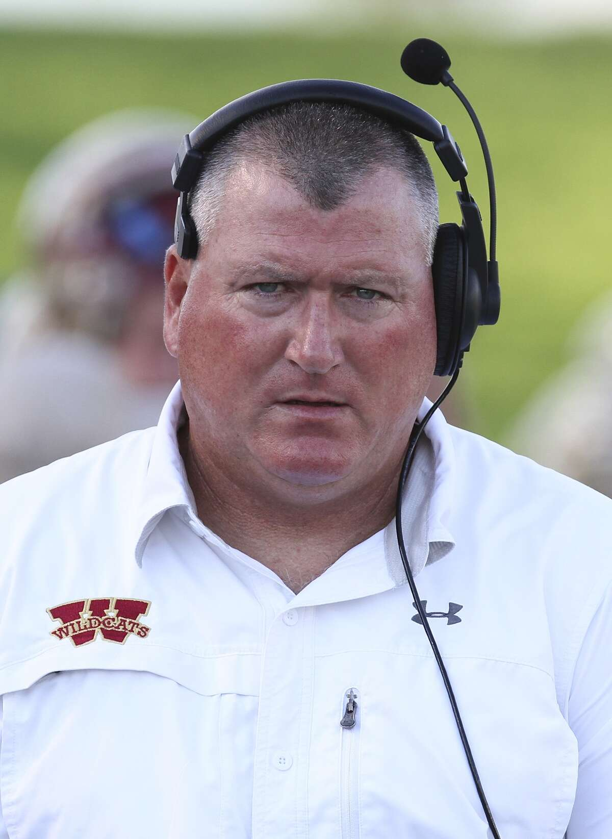 Cy Woods head football coach Trent Faith.