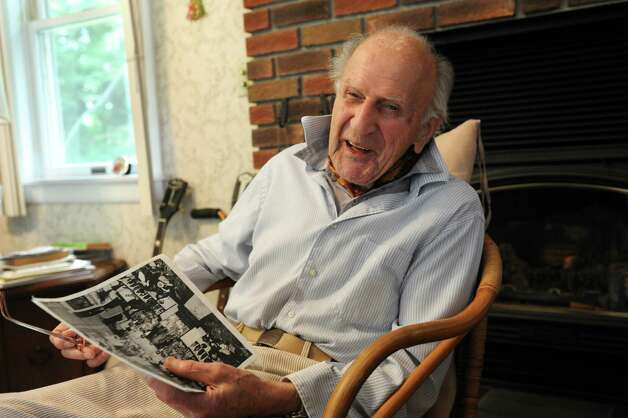 98-year-old Joseph Hrachian tells stories about him and his wife, Sarah, 94, who recently celebrated their 75th wedding anniversary Thursday, Sept. 25, 2014 in Guilderland, N.Y. (Lori Van Buren / Times Union) Photo: Lori Van Buren / 00028763A