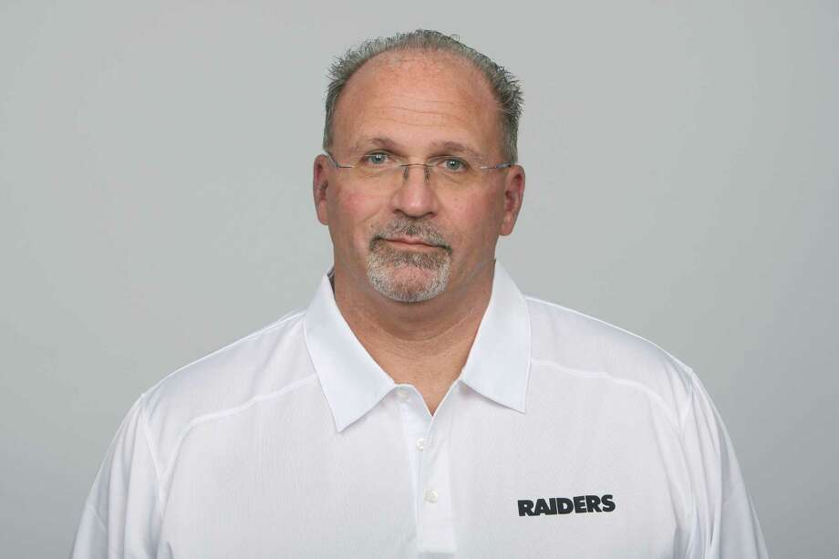 FILE - This is a 2013 file photo showing Tony Sparano of the Oakland Raiders NFL football team. The Raiders promoted offensive line coach Sparano to interim coach on Tuesday, Sept. 30, 2014, a day after firing head coach Dennis Allen. (AP Photo/File) Photo: Uncredited, FRE / NFLPV AP