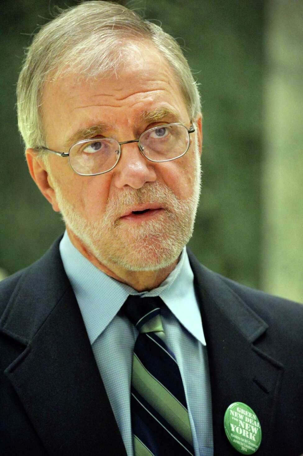 Howie Hawkins, the Green Party nominee to Governor June 4, 2014, at the Legislative Office Building in Albany, N.Y. (John Carl D'Annibale / Times Union)