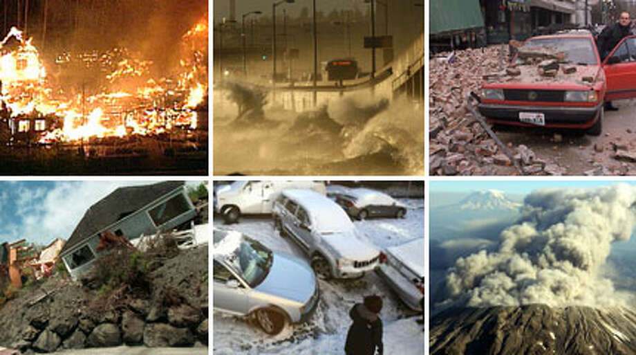 "Gallery: How will Seattle be destroyed and images of landslide dangers and quakes in the city's history.This ranking of 18 disasters most likely to strike Seattle comes from the report ""Seattle Hazard Identification & Vulnerability Analysis."" It's like a greatest hits album of apocalypse scenes, but based on science. Good thing the city is working on a ""mitigation plan."" But first, let's look at those disasters."