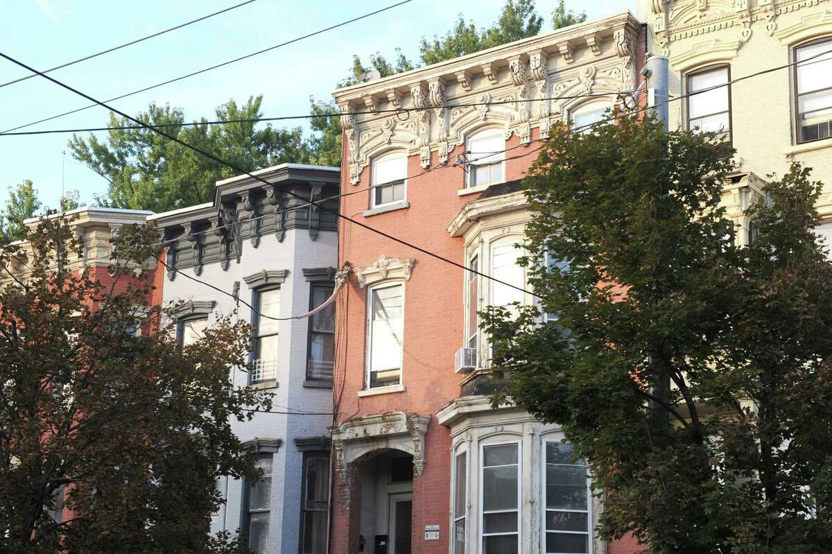 Homes along Clinton Avenue on Tuesday Sept. 30, 2014 in Albany, N.Y. (Michael P. Farrell/Times Union)
