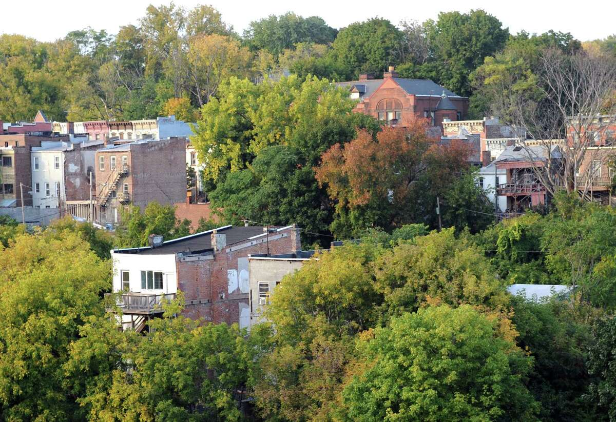 A portion of the Arbor Hill neighborhood as seen from the Sheridan Hollow parking garage on Tuesday Sept. 30, 2014 in Albany, N.Y. (Michael P. Farrell/Times Union)