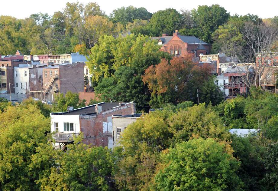 A portion of the Arbor Hill neighborhood as seen from the Sheridan Hollow parking garage on Tuesday Sept. 30, 2014 in Albany, N.Y.  (Michael P. Farrell/Times Union) Photo: Michael P. Farrell / 00028835A