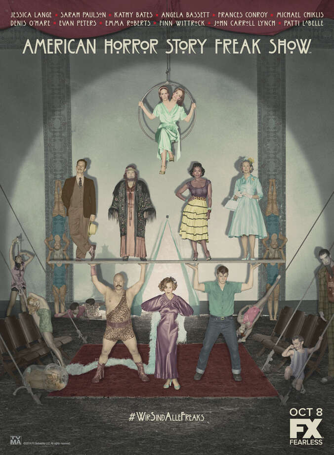AMERICAN HORROR STORY: FREAK SHOW -- Pictured: Cast Art. CR: FX Photo: Copyright 2014, FX Networks. All Rights Reserved. / Copyright 2014, FX Networks. All rights reserved.