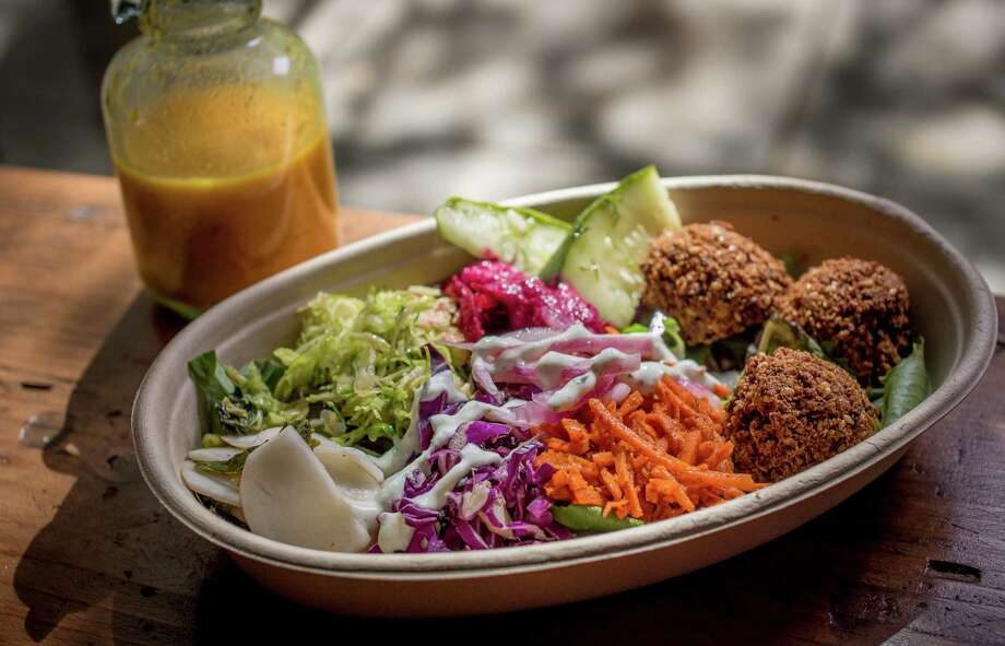 Falafel salad at Liba Falafel in Oakland. Photo: John Storey / Special To The Chronicle / ONLINE_YES