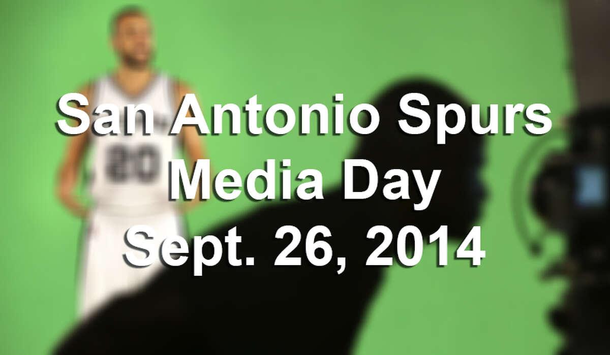San Antonio Spurs Media Day, Sept. 26, 2014.