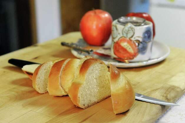 Challah bread made by Cecile Kowalski Friday, Sept. 26, 2014, at her home in Selkirk, N.Y.  (Michael P. Farrell/Times Union) Photo: Michael P. Farrell / 00028757A