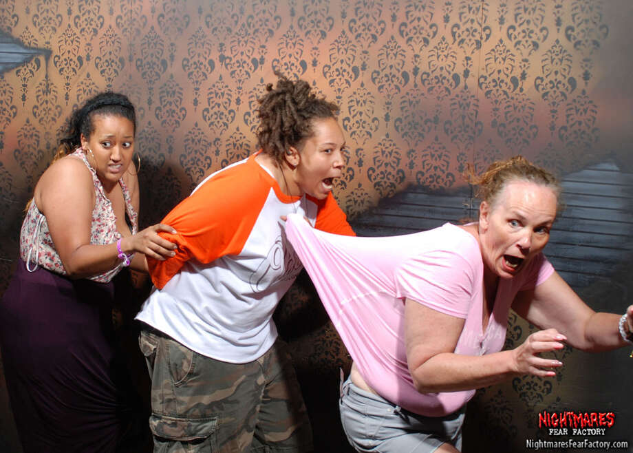 Each year the folks at Nightmares Fear Factory in Niagara Falls, Ontario, Canada set out to make their haunted house scarier and scarier. See some of the results of the faces of this year's visitors. Photo: Nightmaresfearfactory.com