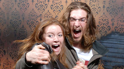 Each year the folks at Nightmares Fear Factory in Niagara Falls, Ontario, Canada set out to make their haunted house scarier and scarier. See some of the results of the faces of this year's visitors.