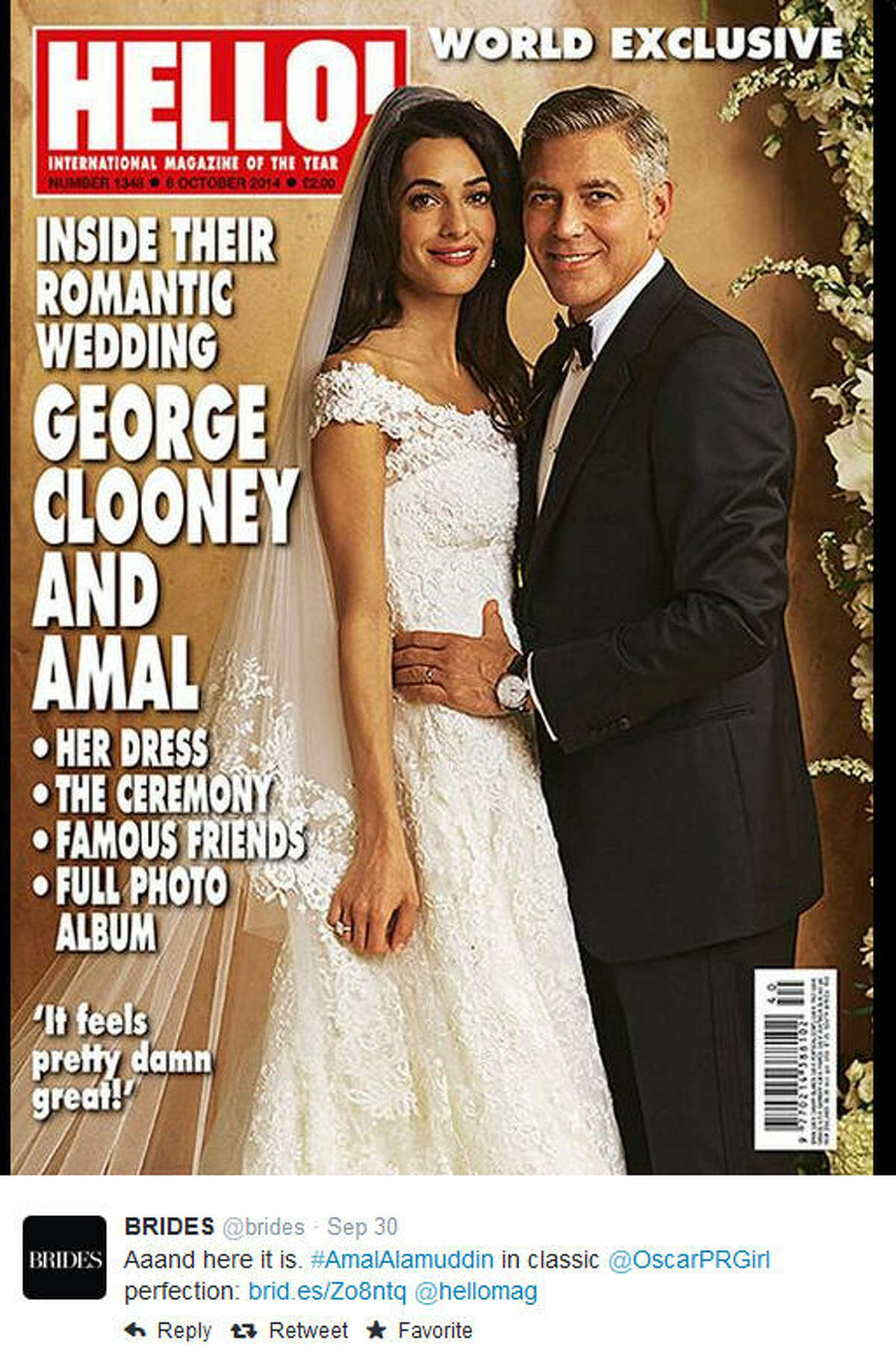 Brides around the world are feasting their eyes on the wedding dress Amal Alamuddin's wore to marry George Clooney on Sept. 27. Gorgeous as it is, she's not the only famous Mrs. with good taste. Take a look at what other stars said 'I do' in on their big day.
