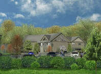 An artist's rendering of the proposed new home for the Greenwich Reform Synagogue in Cos Cob.