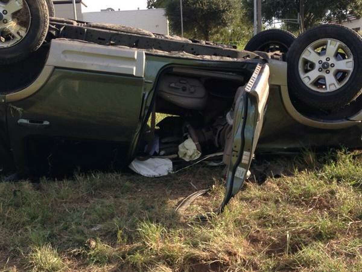 A man was hospitalized Oct. 1, 2014 after a vehicle rollover on Interstate 10 that happened around 3 p.m. near W.W. White Road.