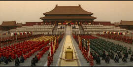 "A scene from Bernardo Bertolucci's ""The Last Emperor."""