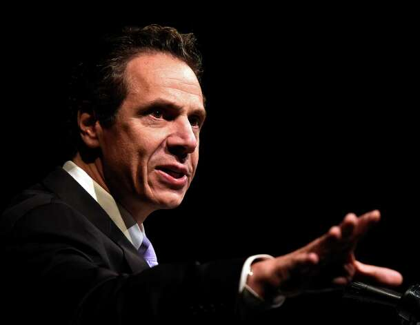 Governor Andrew Cuomo speaks at the MWBE Forum Wednesday morning Oct. 1, 2014 in Albany, N.Y.      (Skip Dickstein/Times Union) Photo: SKIP DICKSTEIN / 00028850A