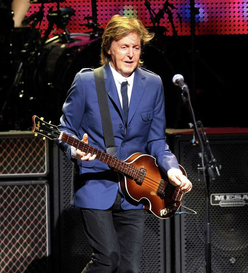 Rock icon Sir Paul McCartney performs at the Tobin Center on Wednesday, Oct. 1, 2014. Photo: Kin Man Hui, San Antonio Express-News / ©2014 San Antonio Express-News