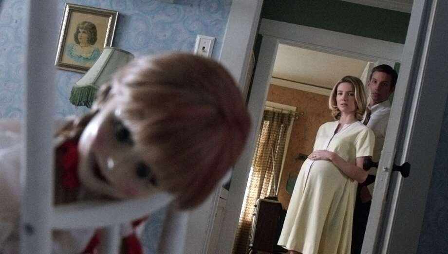 Annabelle Wallis and Ward Horton play couple Mia and John, who are a bit dense about that doll. Photo: Handout / McClatchy-Tribune News Service / Warner Bros. Picture