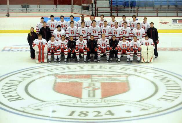 The 2014-15 RPI hockey team on Wednesday Oct.1 , 2014 in Troy, N.Y.  (Michael P. Farrell/Times Union) Photo: Michael P. Farrell / 10028793A