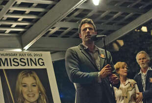 "Ben Affleck stars as Nick, who beomes a suspect when his wife goes missing in ""Gone Girl."""