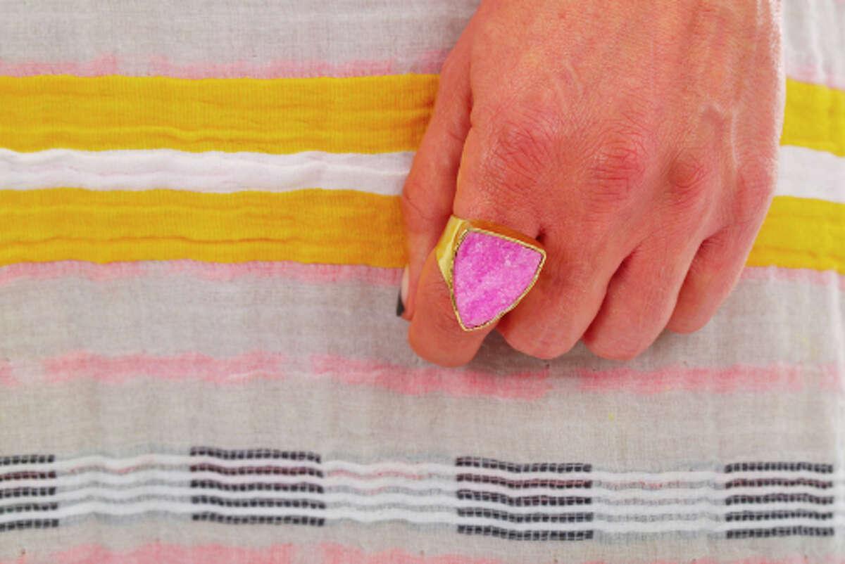 Pink druzy ring by Sheila B.