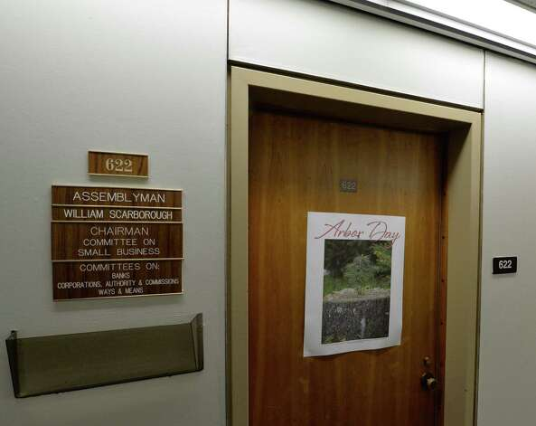 Assemblyman William Scarborough's office is locked up in the Legislative Office Building Wednesday afternoon Oct. 1, 2014 in Albany, N.Y.      (Skip Dickstein/Times Union) Photo: SKIP DICKSTEIN / 00028856A