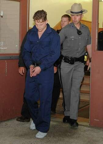 Shane Harding, 25, leaves North Greenbush Town Court after his arraignment on Wednesday, Oct. 1, 2014 in Wynantskill, N.Y (Lori Van Buren / Times Union) Photo: Lori Van Buren / 00028864A