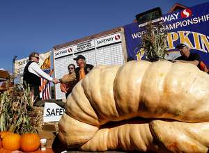 Gourd old-fashioned fun in Half Moon Bay    From a bounty of food options (including pumpkin pie and ice cream, of course) to the annual pumpkin weigh-off, the Half Moon Bay Art & Pumpkin Festival is all about celebrating the harvest season. If you go, know that traffic gets tough so plan to head out early. Oct. 18-19;  www.pumpkinfest.miramarevents.com     Pictured: Gary Miller, center, is congratulated for his winning 1,985 pound pumpkin at the 40th Annual Safeway World Championship Pumpkin Weigh-Off in Half Moon Bay, Calif., on Monday, October 14, 2013.  Miller's pumpkin was not large enough to break the world record, but it was big enough to win the weight contest for the day.