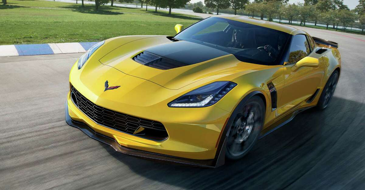 This undated image provided by General Motors shows the 2015 Chevrolet Corvette Z06. General Motors says the new high-performance Corvette can hit 60 mph in 2.95 seconds, finish a quarter-mile in just under 11 seconds, and reach 127 mph in one-quarter mile, making it the fastest car GM has ever made.
