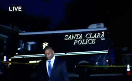 Santa Clara police investigate a stabbing after a resident confronted a burglar in his home early Thursday.