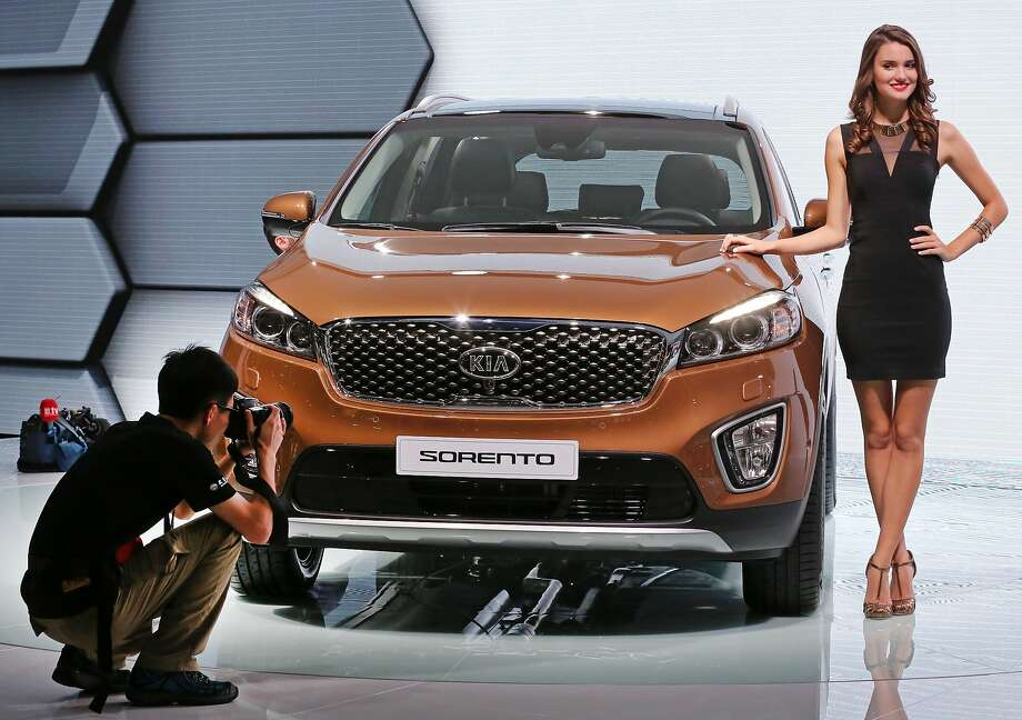 A Sorento, made by Korean car maker Kia is presented at the Paris Motor Show.Here is a preview of what will be on display at the show before the doors open to the public on Saturday. Photo: Remy De La Mauviniere, Associated Press