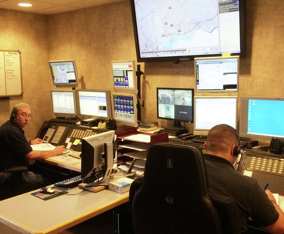 The Westport Fire Department's dispatch center, under a new joint agreement, is now handling dispatching services for the New Canaan Fire Department. Photo: Contributed Photo / Westport News