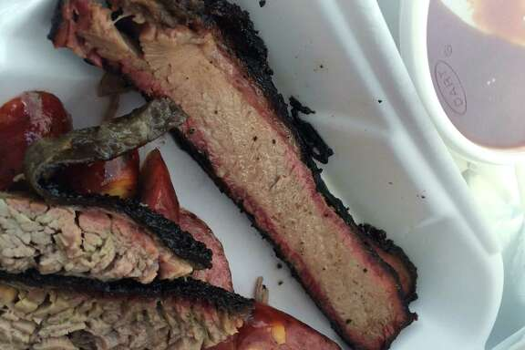 Lean brisket at Baker's Ribs Bar-B-Que in Houston.