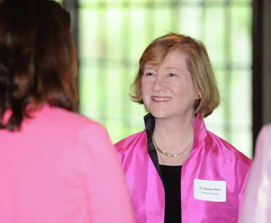 Dr. Barbara Ward, medical director and chief surgeon of the breast cancer department at Greenwich Hospital, during the Greenwich Chamber of Commerce's Women Who Matter Luncheon at the Milbrook Club in Greenwich, Conn., Thursday, Oct. 2, 2014. Dr. Ward was the keynote speaker for the event. Photo: Bob Luckey / Greenwich Time