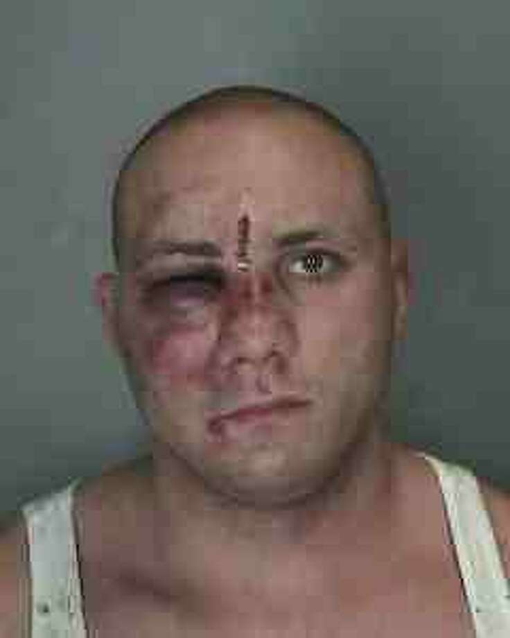 Rotterdam police Officer Vincent Stone was arrested early Thursday after he allegedly had a fight with a woman in a Schenectady apartment and then fought with city police officers who tried to quell the dispute. (Schenectady Police Department) Photo: Provided