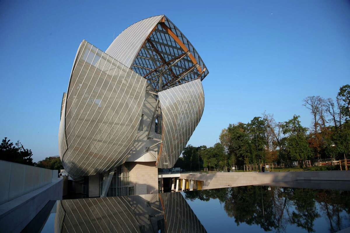 The Louis Vuitton Foundation art museum and cultural center is as much a showstopper as the looks in the fashion house's spring-summer 2015 ready-to-wear collection in Paris. Architect Frank Gehry designed the building.
