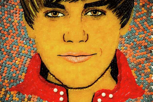 "A candied portrait of pop star Justin Bieber on display during a media preview of ""The Science of RipleyÕs Believe It or Not!"" exhibit Thursday, October 2, 2014, at the Pacific Science Center in Seattle, Washington. The exhibit opens on Oct. 4, inviting the curious to discover the stories behind the acclaimed trailblazer, Robert Ripley. Photo: JORDAN STEAD, SEATTLEPI.COM / SEATTLEPI.COM"