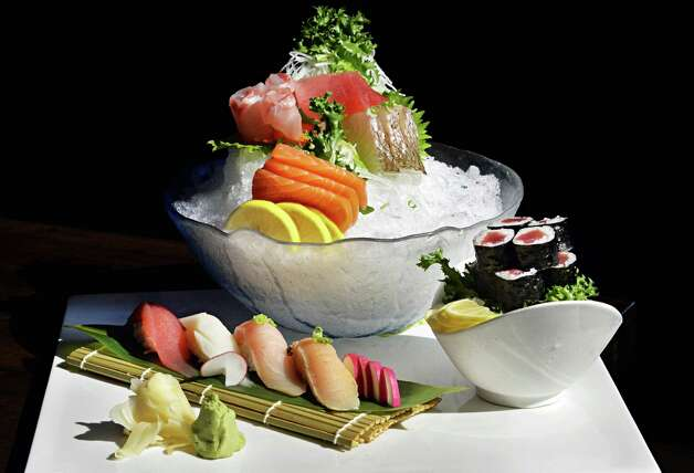 Chef's choice sushi and sashimi at Samurai Japanese Restaurant on Wolf Road Friday Sept. 26, 2014, in Colonie, NY.  (John Carl D'Annibale / Times Union) Photo: John Carl D'Annibale / 00028772A