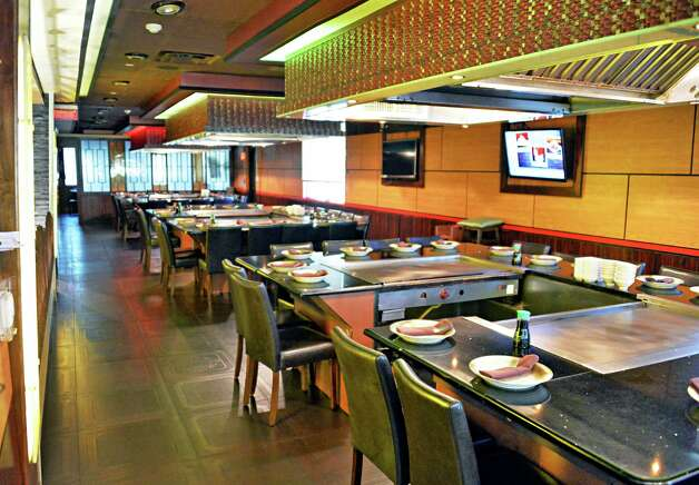 Hibachi tables at Samurai Japanese Restaurant on Wolf Road Friday Sept. 26, 2014, in Colonie, NY.  (John Carl D'Annibale / Times Union) Photo: John Carl D'Annibale / 00028772A