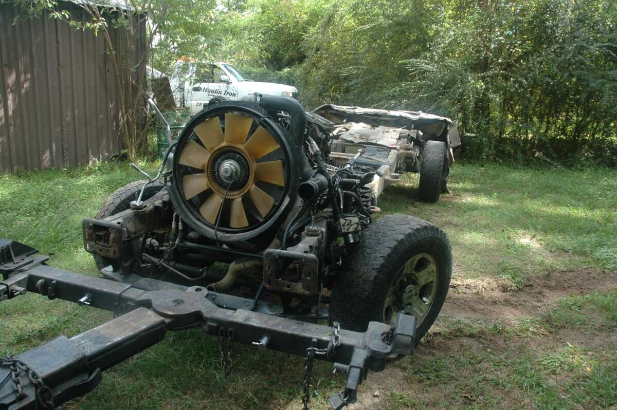 Harris County Pct. 4 Constable Ron Hickman's office raided an apparent chop shop Oct. 1, 2014.