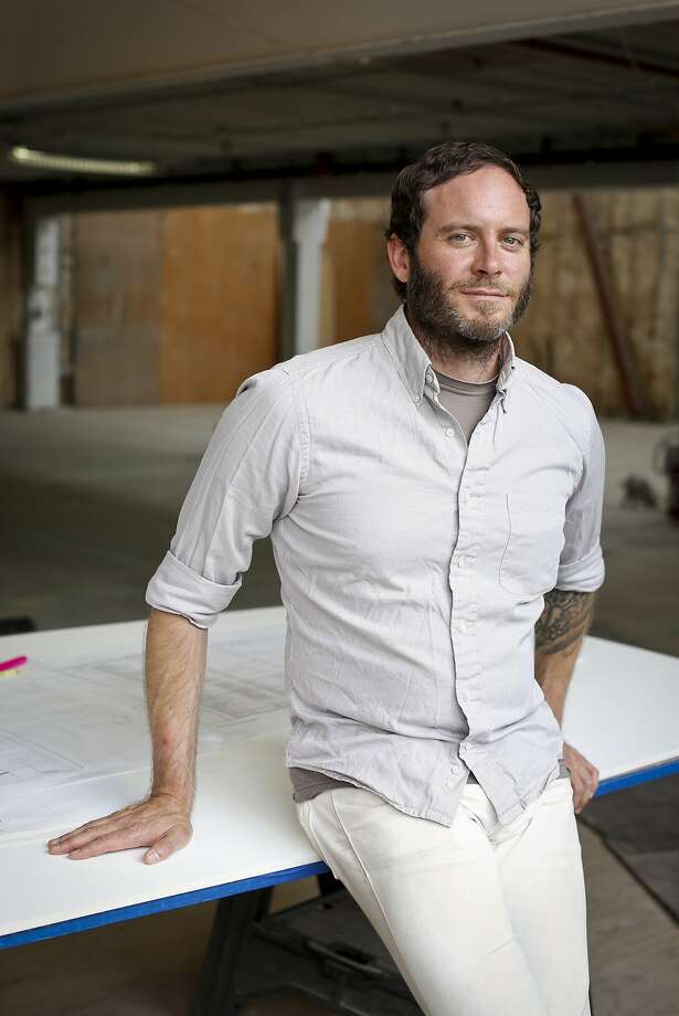Chad Robertson of Tartine Bakery and Cafe is seen in their new space in the Heath Ceramics building on Friday, Sept. 19, 2014 in San Francisco, Calif.  Robertson hopes to open the space which will include a bakery, cafe and ice cream shop early next year. Photo: Russell Yip, The Chronicle