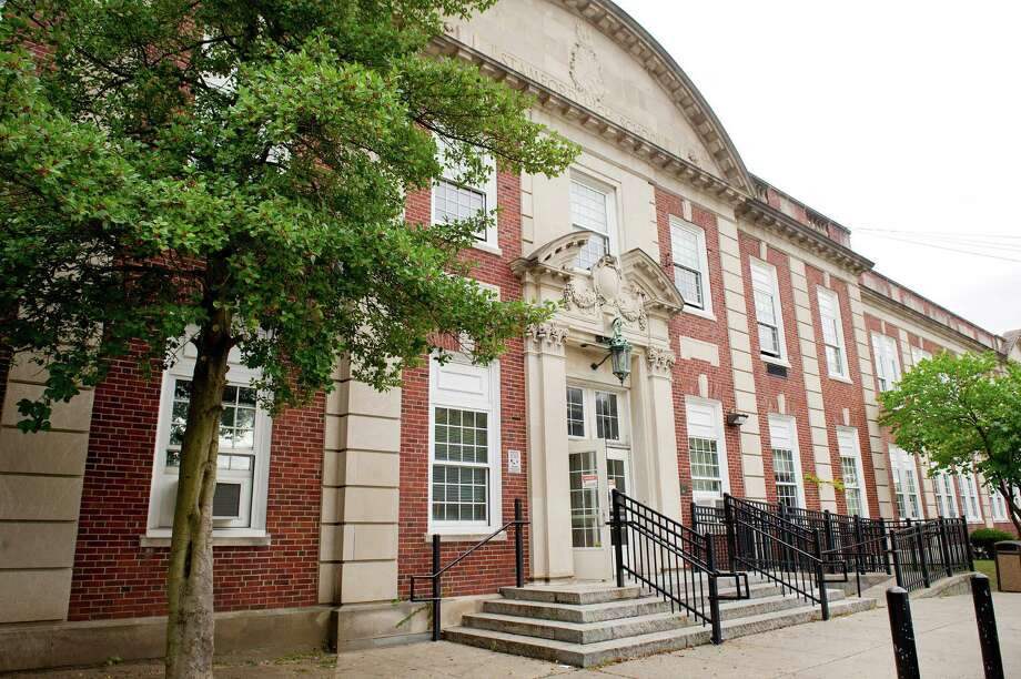 Stamford High school on Thursday, October 2, 2014. The school's principal, Donna Valentine, and an Assistant Principal, Roth Nordin, were arrested for allegedly failing to report a sexual relationship between a teacher and student at the school. Photo: Lindsay Perry / Stamford Advocate