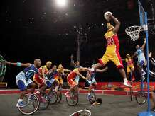 The King Charles Troupe of unicyclists will appear with the circus Oct. 23-26 in Bridgeport.