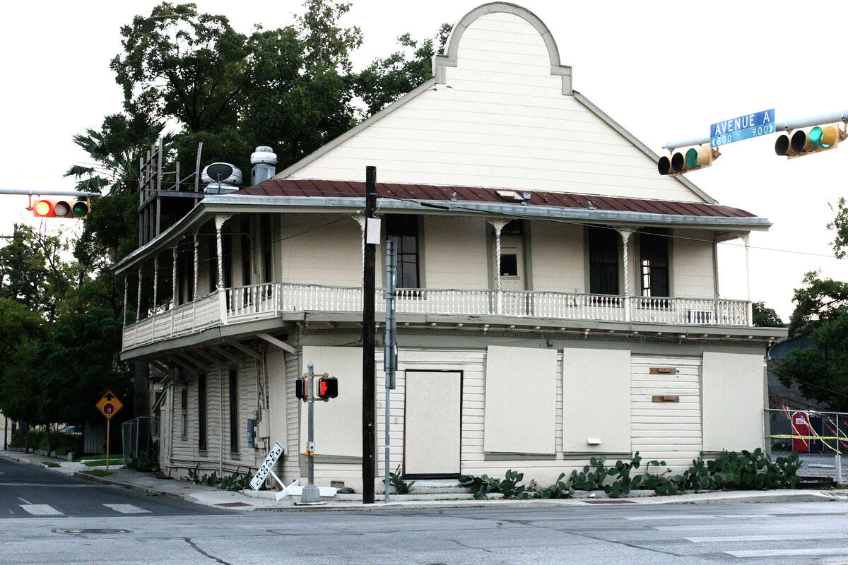 Former Liberty Bar has been straightened after years of been tilted.