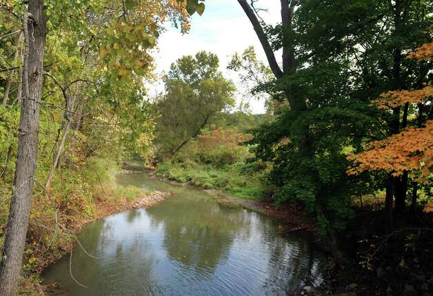 The Coeymans Creek at Old Ravena Road runs through a large parcel of land owned by the City of Albany on Thursday Oct. 2, 2014 in Coeymans, N.Y.  (Michael P. Farrell/Times Union) Photo: Michael P. Farrell / 00028874A