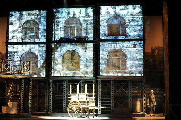 "The set of ""Newsies"" on Wednesday, Oct. 1, 2014, at Proctors Theatre in Schenectady, N.Y. (Cindy Schultz / Times Union) Photo: Cindy Schultz / 00028846A"