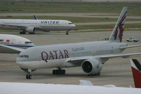 Bill Montgomery  /  Houston Chronicle Among the carriers at Bush Intercontinental Airport are United Airlines, Qatar Airways and Emirates. August 2014.