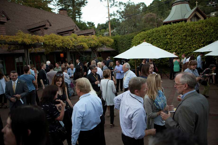 Attendees mingle during opening night of the 37th annual Mill Valley Film Festival in 2014. The festival was founded in 1977 by Mark Fishkin. Photo: Alex Washburn / Special To The Chronicle / ONLINE_YES