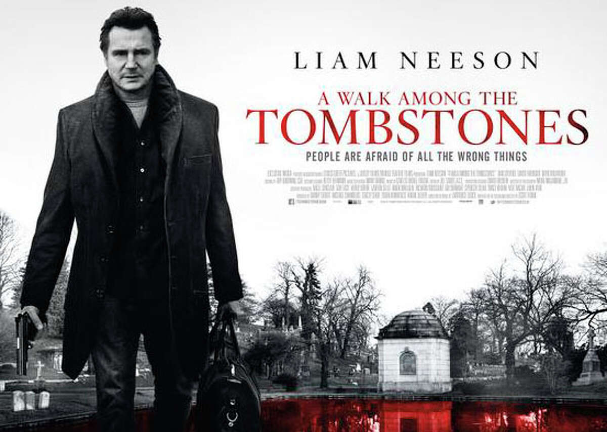 """Liam Neeson stars in the new mystery thriller, """"A Walk Among the Tombstones,"""" playing in area movie theaters."""